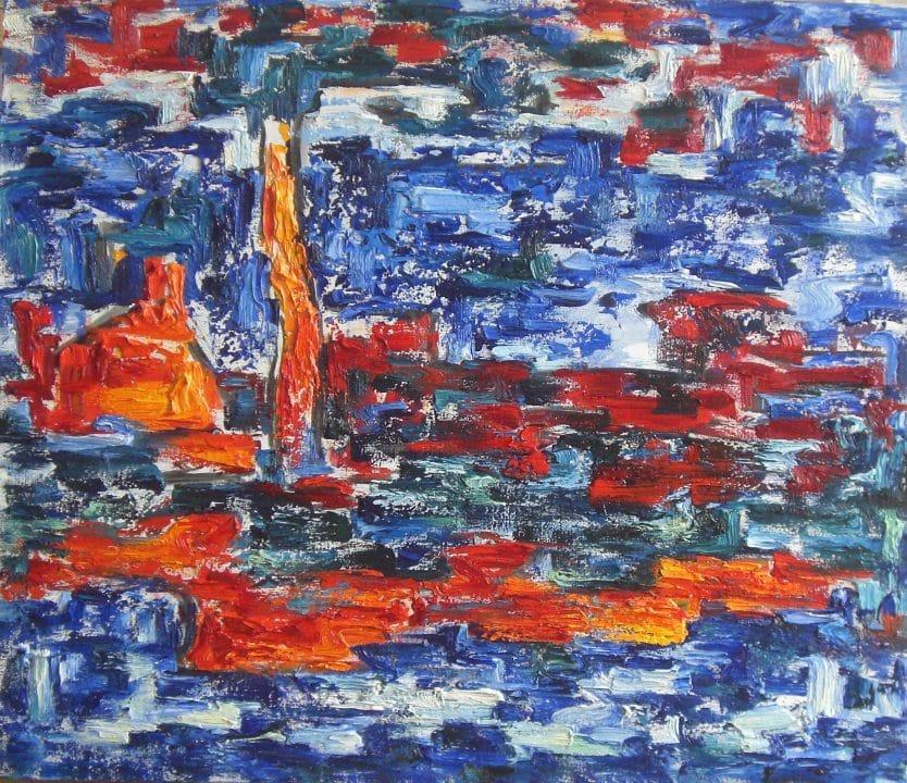 Landschaft im orangenen Licht